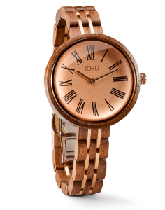 Jord Wood Watch Cassia Walnut & Vitage Rose / Hazelnut Watch