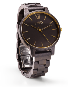 Jord Wood Watch Frankie Ebony and Gold / Black and Gold watch
