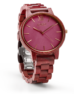 Jord Wood Watch Purpleheart and Plum Watch / Pink and Red-ish Gold Watch