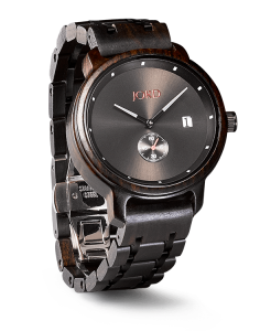Jord Wood Watch Purpleheart and Plum Watch / Polished Black and Silver Wood Watch