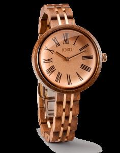 Jord Wood Watch Cassia Walnut & Vitage Rose / Hazelnut Watch